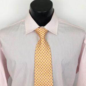 Charles Tyrwhitt Dress Shirt striped pink 17.5